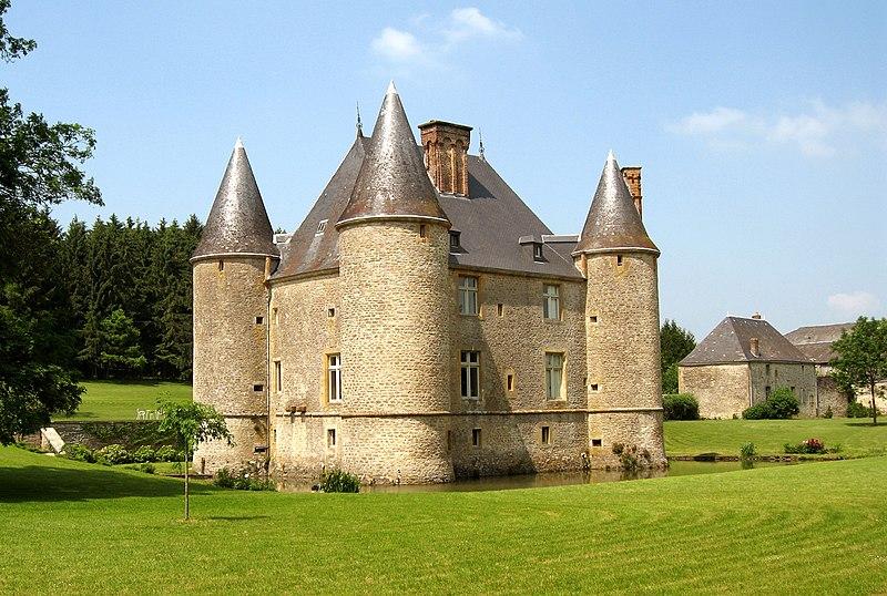 Photo du Monument Historique Château de Landreville situé à Bayonville
