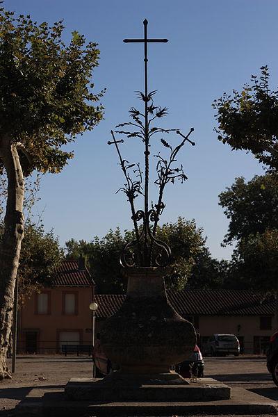 Photo du Monument Historique Croix de fer dite Croix de Durhan situé à Lézat-sur-Lèze