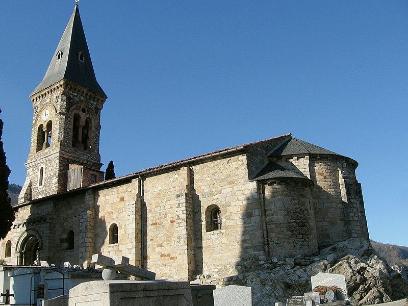 Photo du Monument Historique Eglise situé à Mercus-Garrabet