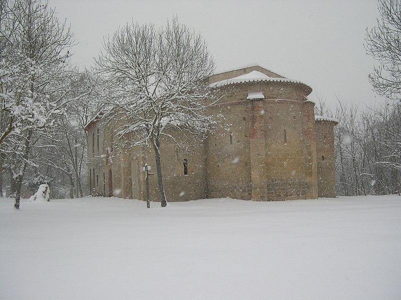 Photo du Monument Historique Ancienne abbaye Saint-Antonin, dite Mas Cailloup situé à Pamiers