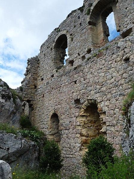 Photo du Monument Historique Château cathare situé à Roquefixade