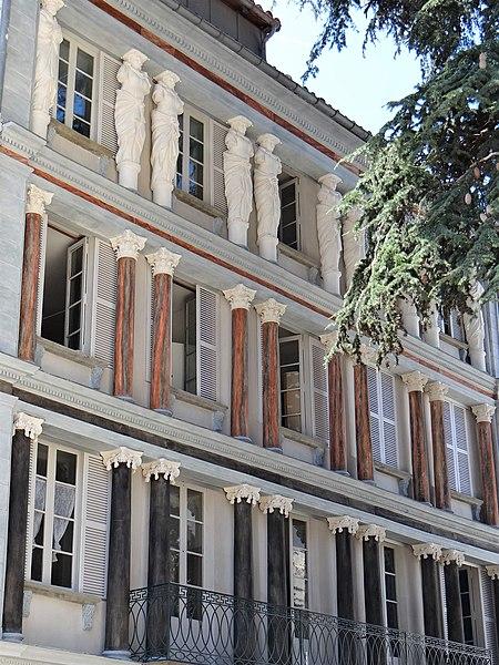 Photo du Monument Historique Immeuble dit maison des Cariatides situé à Foix