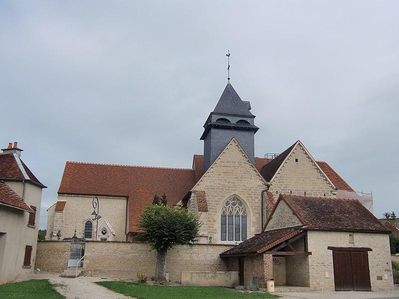 Photo du Monument Historique Eglise situé à Bourguignons