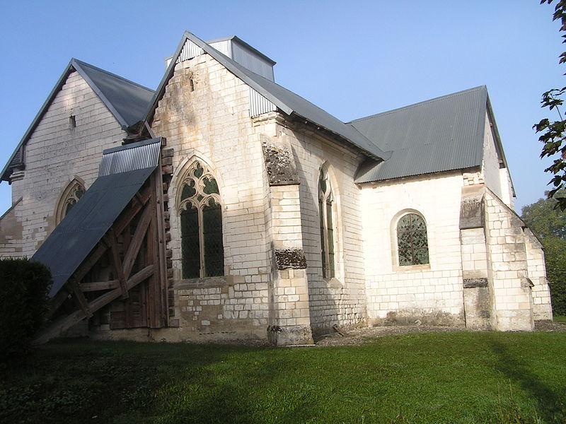 Photo du Monument Historique Eglise Saint-Jean-Baptiste de Mailly-le-Petit ou du Petit-Mailly situé à Mailly-le-Camp