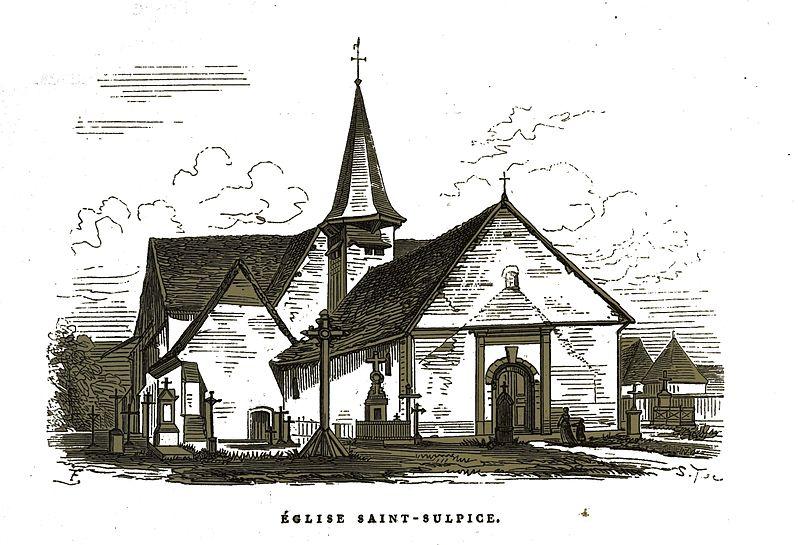 Photo du Monument Historique Eglise situé à Mergey