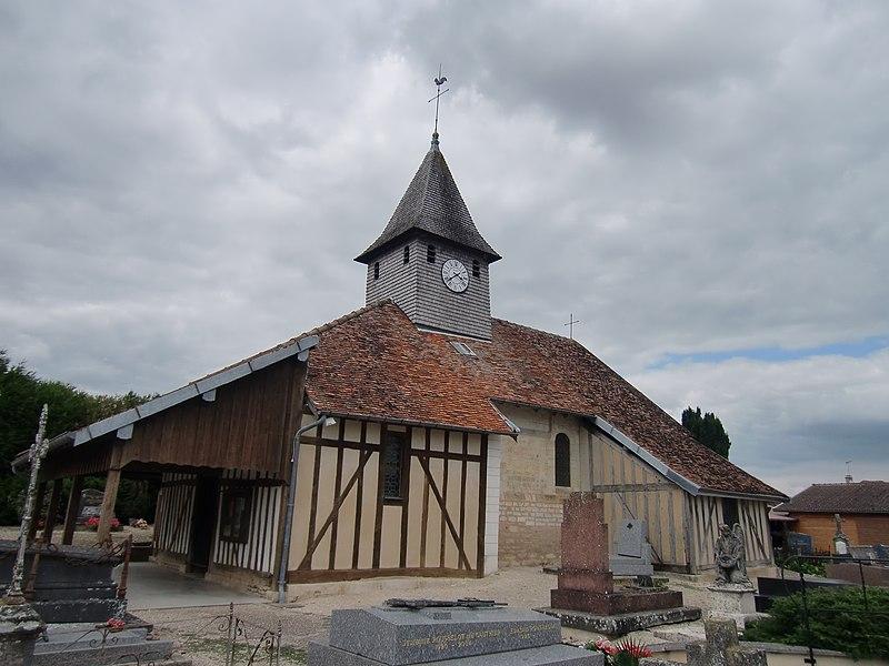 Photo du Monument Historique Eglise Saint-Hubert situé à Pars-lès-Chavanges