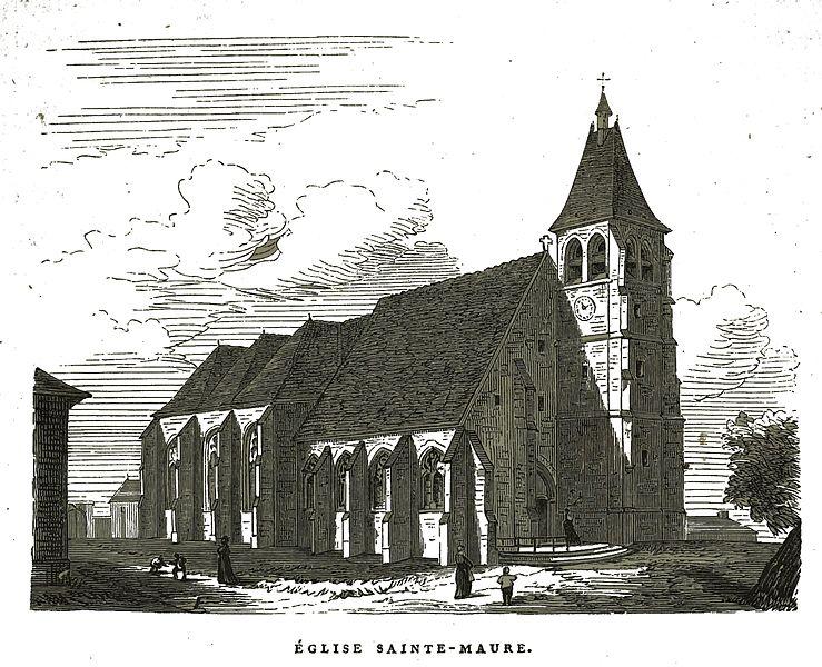 Photo du Monument Historique Eglise Sainte-Maure situé à Sainte-Maure
