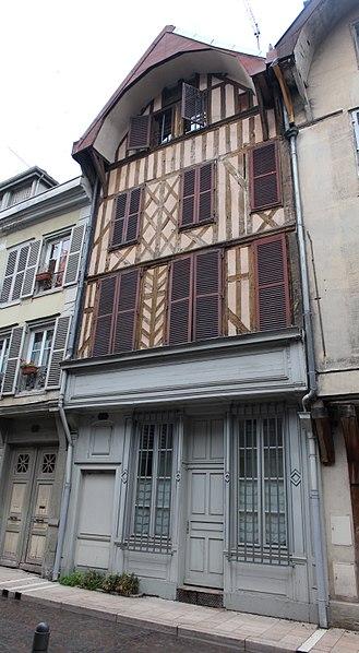 Photo du Monument Historique Maison situé à Troyes