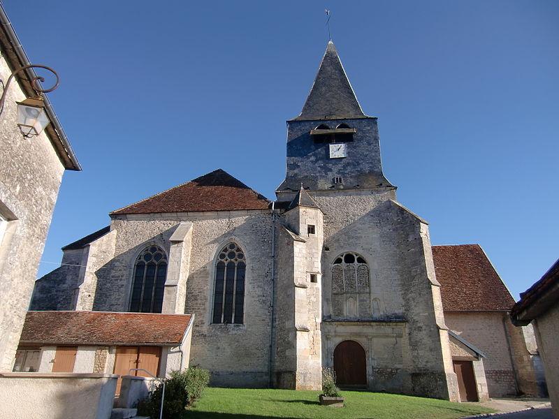Photo du Monument Historique Eglise Saint-Aubin situé à Ville-sur-Arce