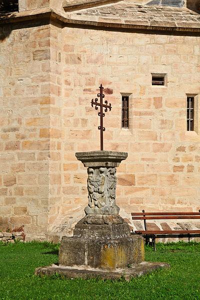 Photo du Monument Historique Socle de croix situé à Alet-les-Bains