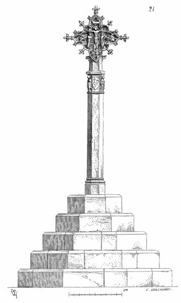 Photo du Monument Historique Croix en pierre situé à Belpech