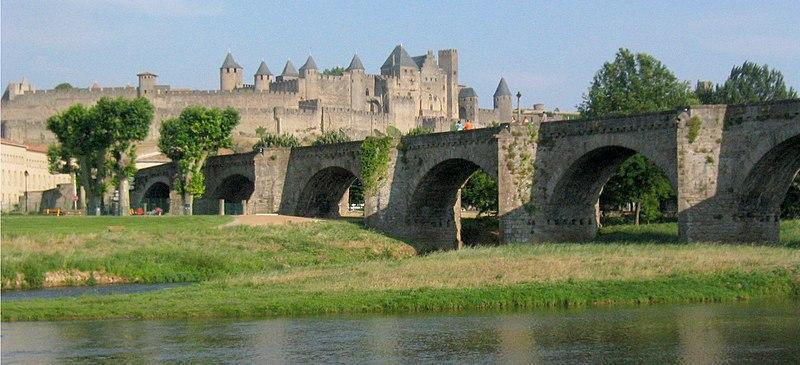 Photo du Monument Historique Pont-Vieux situé à Carcassonne
