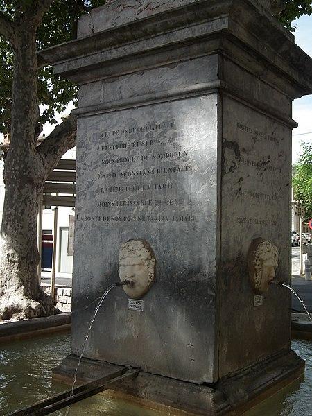 Photo du Monument Historique Grande fontaine situé à Caunes-Minervois