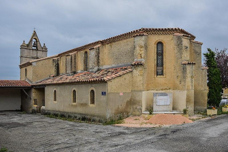 Photo du Monument Historique Eglise Saint-Christol situé à Fonters-du-Razès
