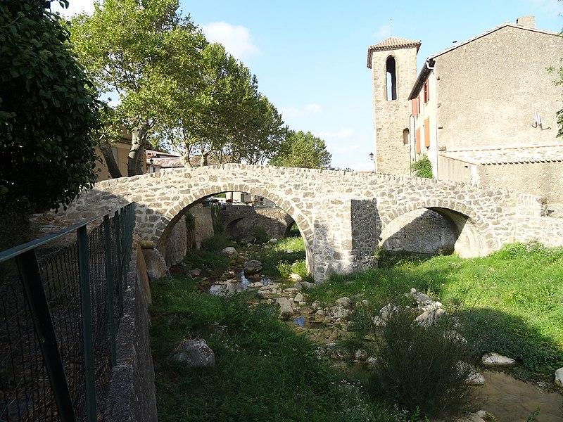 Photo du Monument Historique Vieux pont situé à Labastide-en-Val