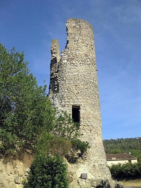 Photo du Monument Historique Tour de Plaisance et restes de remparts contigüs situé à Lagrasse