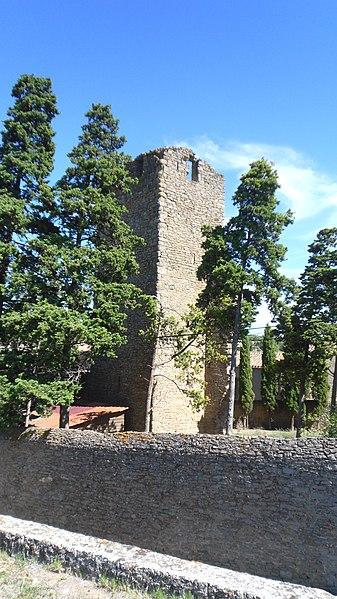 Photo du Monument Historique Ensemble de la tour du Bas situé à Laure-Minervois