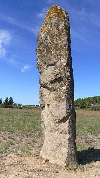 Photo du Monument Historique Menhir situé à Malves-en-Minervois