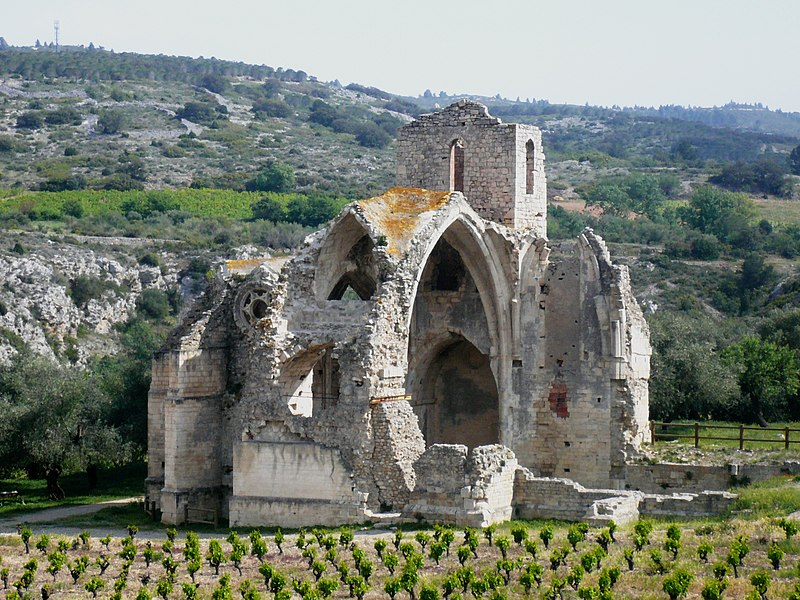 Photo du Monument Historique Ruines de l'ancienne église Notre-Dame-des-Oubiels situé à Portel-des-Corbières