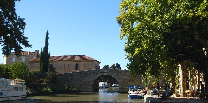 Photo du Monument Historique Canal du Midi : hameau du Somail (également sur commune de Saint-Nazaire-d'Aude) situé à Ginestas