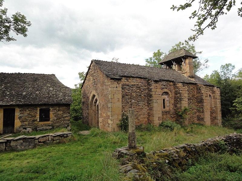 Photo du Monument Historique Ancienne église d'Aurelle situé à Aurelle-Verlac