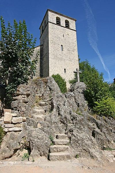 Photo du Monument Historique Eglise et ancien cimetière situé à La Couvertoirade