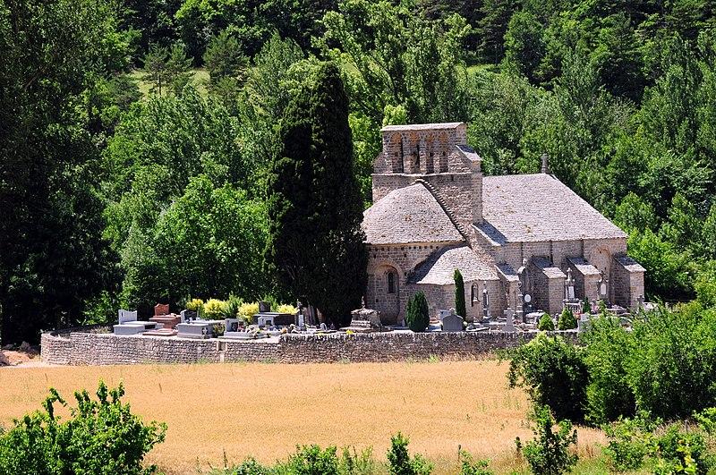 Photo du Monument Historique Eglise Notre-Dame des Champs situé à Mostuéjouls