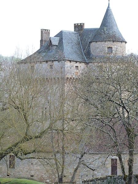Photo du Monument Historique Château de Marinesque situé à Naussac