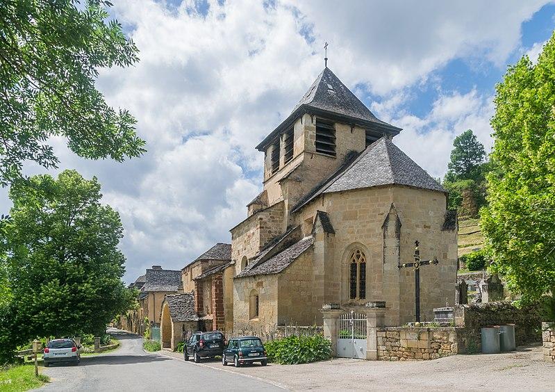 Photo du Monument Historique Eglise Saint-Austremoine situé à Salles-la-Source