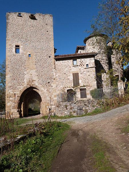 Photo du Monument Historique Ancienne porte de Ville, dite Porte de la Barbacane situé à Peyrusse-le-Roc