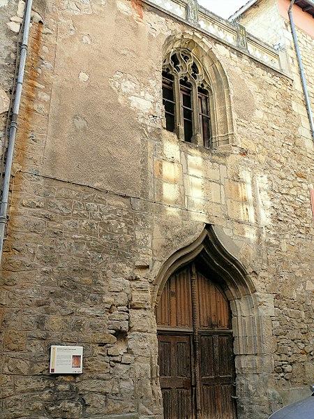 Photo du Monument Historique Ancienne église Saint-Jacques situé à Villefranche-de-Rouergue