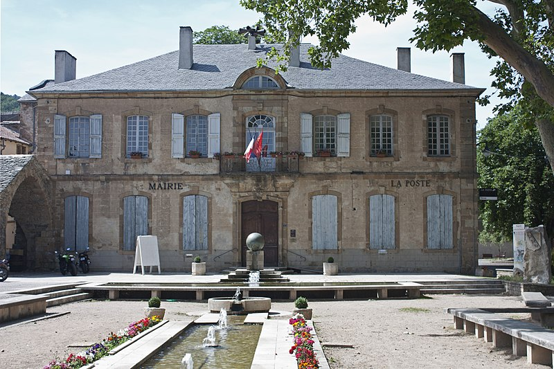 Photo du Monument Historique Ancien hôtel Ayrolle des Angles, actuellement hôtel de ville situé à Nant