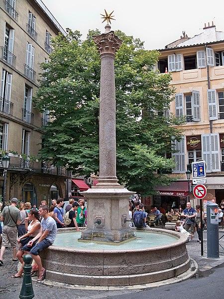 Photo du Monument Historique Fontaine des Augustins situé à Aix-en-Provence