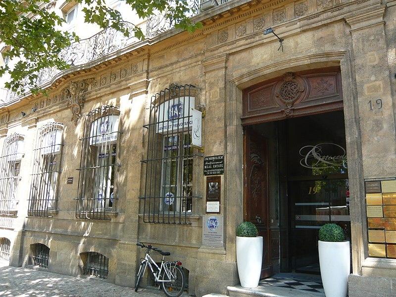 Photo du Monument Historique Hôtel d'Arbaud-Jouques situé à Aix-en-Provence