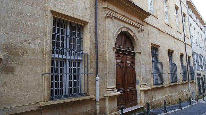 Photo du Monument Historique Hôtel d'Arlatan-Lauris dit aussi d'Arlatan de Montaud ou Bonnecorse-Lubières situé à Aix-en-Provence