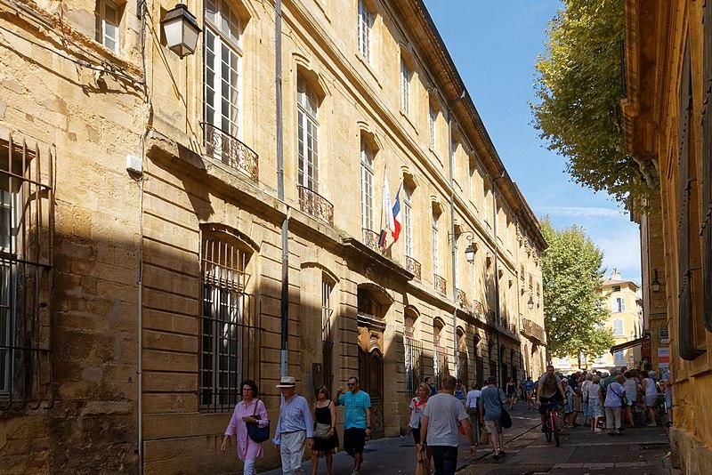 Photo du Monument Historique Hôtel Boyer de Fonscolombe dit aussi de Saporta ou de Vitrolles situé à Aix-en-Provence