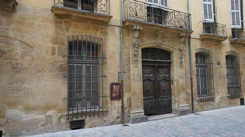 Photo du Monument Historique Hôtel Guiran de la Brillanne ou de Rémusat, de Sallier, de Gassier, de la Panouse situé à Aix-en-Provence