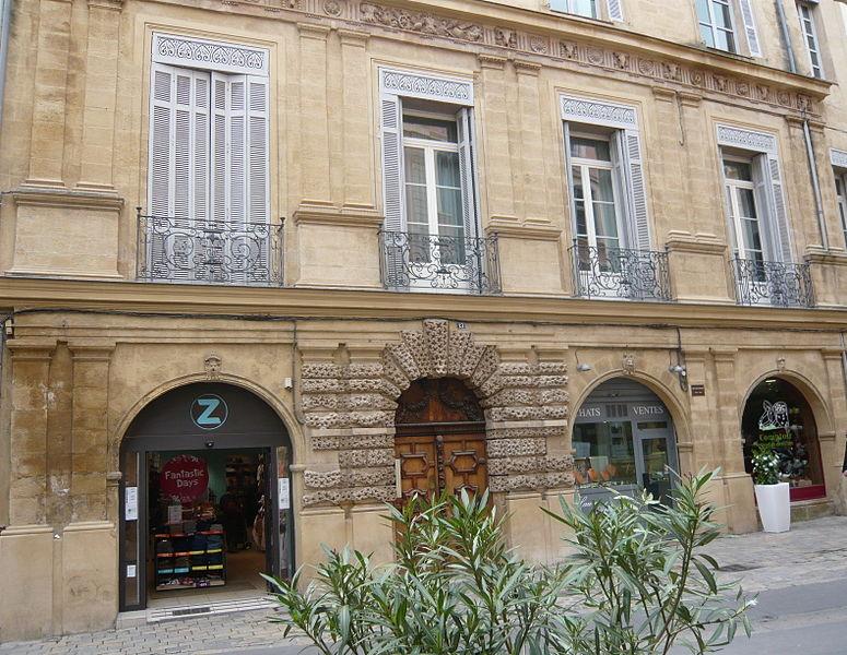 Photo du Monument Historique Hôtel Peyronetti situé à Aix-en-Provence