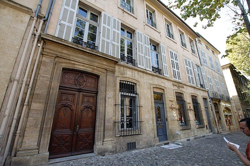 Photo du Monument Historique Hôtel Raousset-Boulbon dit aussi Fauris de Saint-Vincens ou de Rascas situé à Aix-en-Provence