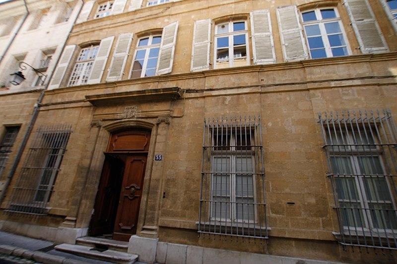 Photo du Monument Historique Hôtel Silvy ou Ripert de Montclar ou Bourguignon de Fabregoules situé à Aix-en-Provence