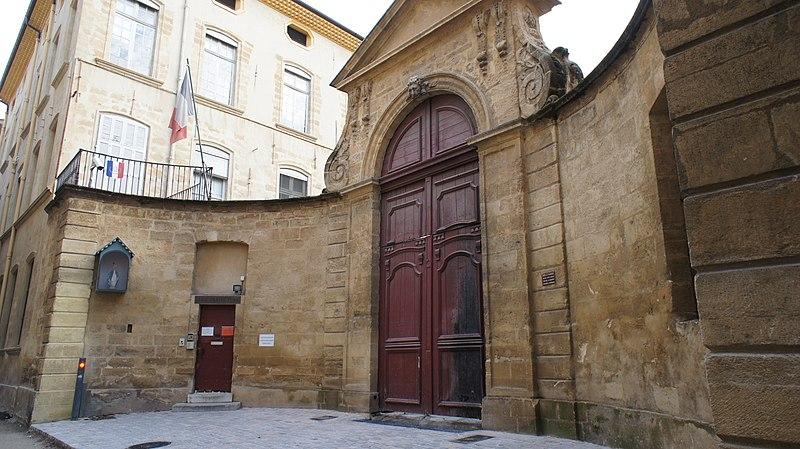 Photo du Monument Historique Hôtel de Valbelle situé à Aix-en-Provence