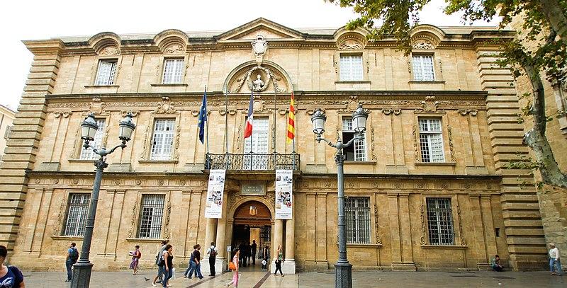 Photo du Monument Historique Hôtel de ville situé à Aix-en-Provence