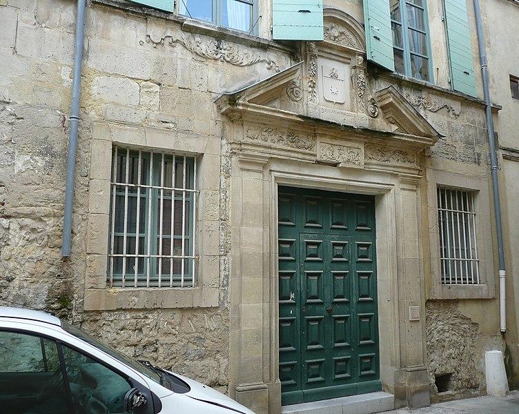 Photo du Monument Historique Hôtel de Vinsargues situé à Arles