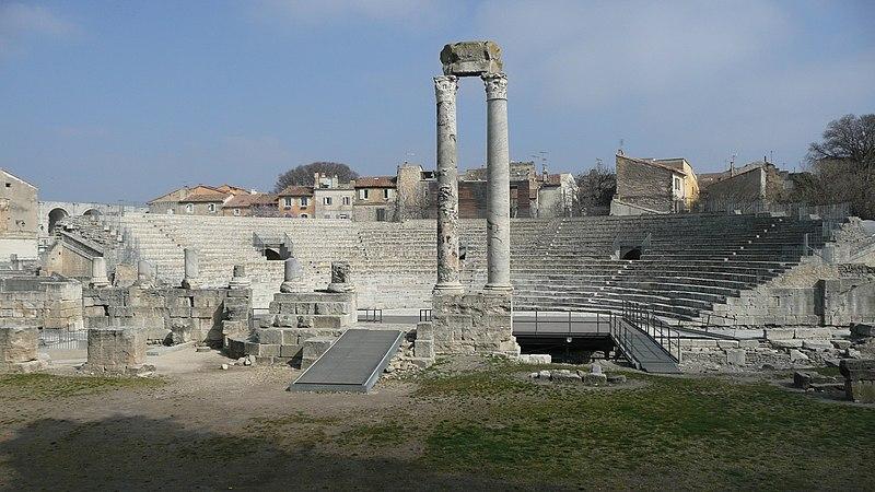 Photo du Monument Historique Théâtre romain situé à Arles