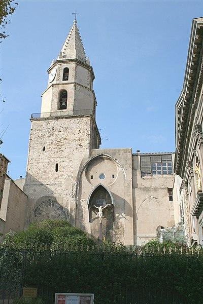 Photo du Monument Historique Clocher des Accoules au vieux port situé à Marseille