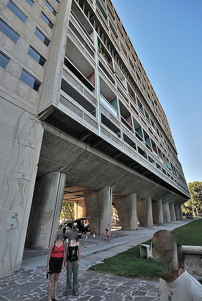 Photo du Monument Historique Unité d'habitation Le Corbusier dite Cité Radieuse situé à Marseille