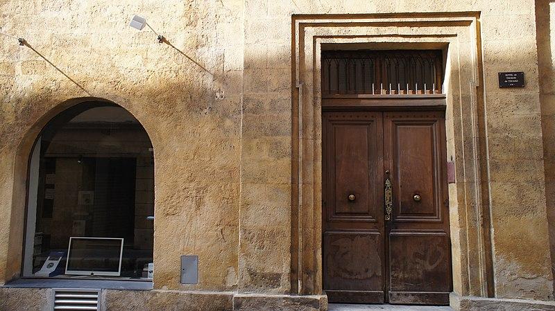 Photo du Monument Historique Hôtel de Thoron situé à Aix-en-Provence