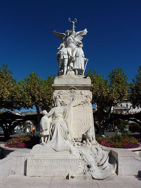 Photo du Monument Historique Monument aux morts de la guerre de 1914-1918, dit aussi Monument de la Victoire situé à Aubagne