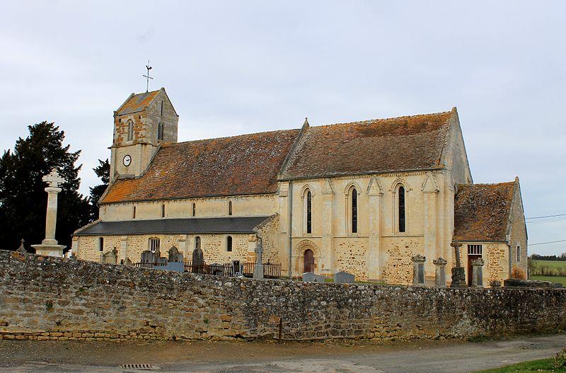 Photo du Monument Historique Eglise Saint-Aubin situé à Acqueville