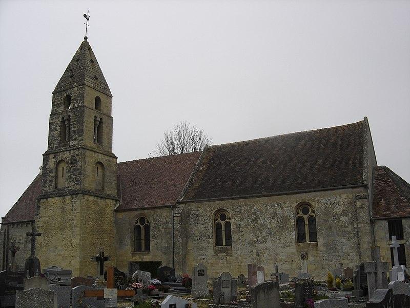 Photo du Monument Historique Eglise situé à Anguerny